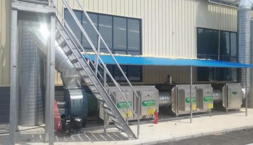 新材料厂废气处理